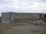 Constructing & cladding entrance walls
